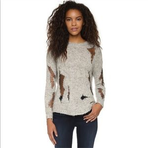 Generation Love Grey Distressed Boucle Sweater S